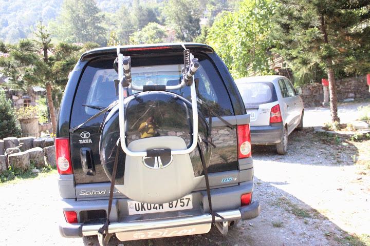Tata Safari Car Bike Rack
