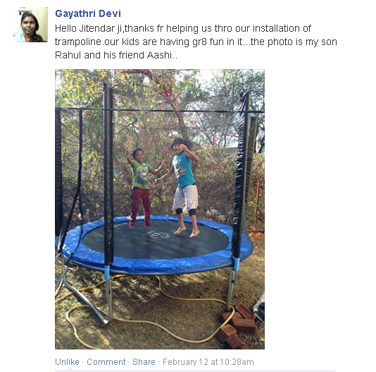 SkyJumper Trampoline reviews