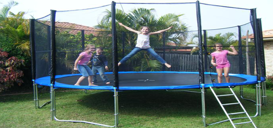 16 Feet Big Trampoline With Enclosure Safety Net